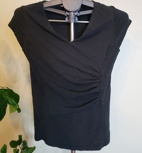 Kuhl Mountain Culture side rusched black shirt